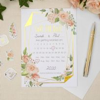 Geo Floral Save The Date Cards (10)
